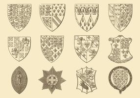Antiguo Dibujo Heráldico Y Vectores Emblema