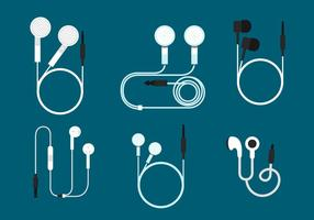 Ear Buds Vector Set