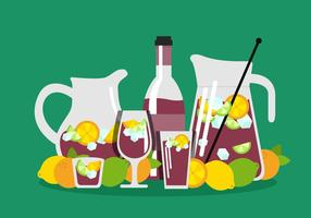 Flipper sangria vector
