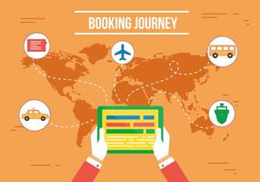 Booking Journey Vector