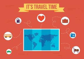 Kostenlose Reisezeit Vektor