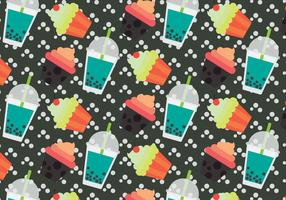 Gratis Bubble Tea Vector Patroon # 2