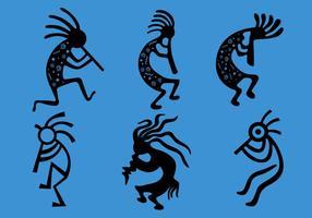 Símbolos del vector de Kokopelli