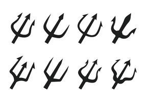 Poseidon trident vektorikonen