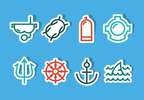 Vetores de ícones oceânicos