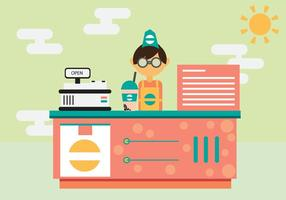 Cafe Shop Vector Background