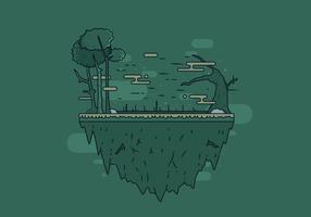 Vector libre de la isla del pantano