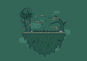 Free Swamp Island Vector