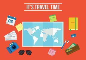 Vettore di tempo libero di viaggio