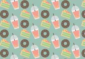 Free Bubble Tea Vector Pattern #1