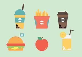 Vetores grátis de ícones de fast food
