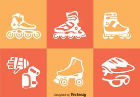 Roller Blade Icons Vector