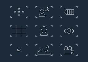 Vecteurs de l'icône de la ligne du viseur