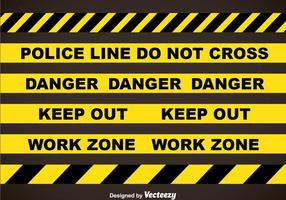 Police Line And Danger Tapes Vector Sets