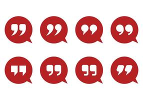 Quotation Mark e Bubble Vectors