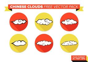 Chinese Wolken Gratis Vector Pack