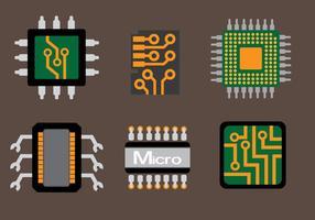 Tecnología Microchip Vector