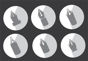 Stift Nib Silhouette Vektor