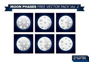 Fases da lua pacote de vetores grátis 2