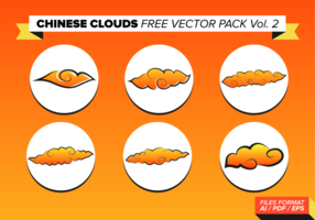 Chinese Clouds Free Vector Pack Vol.2