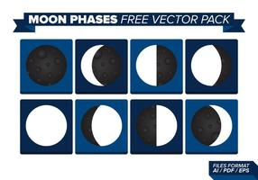 Pack de vecteurs gratuits en phase de lune