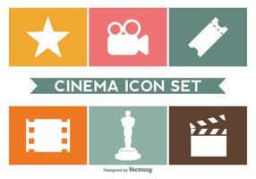Cinema Icon Set vettoriale