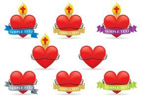 Vecteurs de coeur sacré