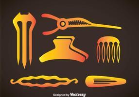 Hair Stylist Accessoires Pictogrammen Vector