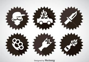 Gangster Element Icons Vektor