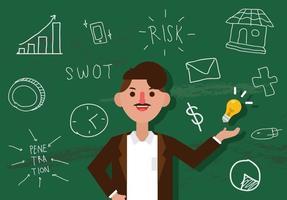 Vektor entreprenörskap man