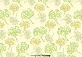Motif de feuilles de ginkgo