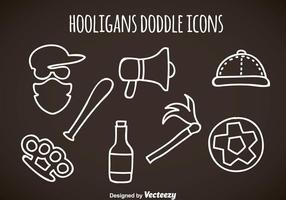 Hooligans Doddle Icons Vektor