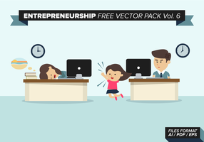 Entreprenörskap Gratis Vector Pack Vol. 6