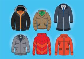 Vectores del abrigo del invierno