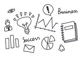 Mano-dibujo de vectores de negocios