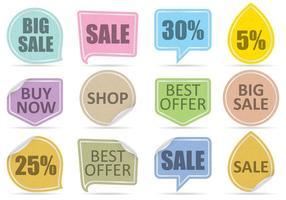 Vecteurs d'étiquettes de vente