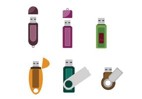Isolated Compact Pen Drive Vector