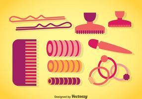 Vectores de accesorios de cabello