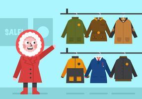 Vector abrigo de invierno para las niñas