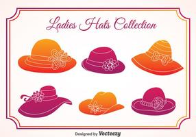Ladies Hats Vector