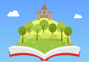Gratis Fairytale Book Vector