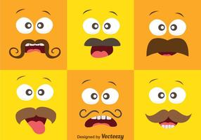 Face Expression With Mustache Vector