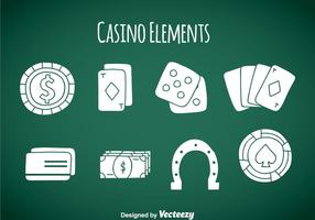 Casino Element Pictogrammen Vector