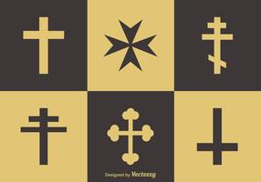Religion Crosses Vector Icons