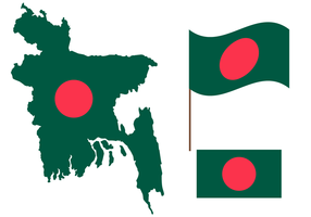 Free Bangladesh Map Vector