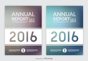 Libre informe anual diseños vectoriales