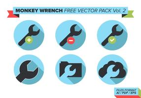 Monkey Skiftnyckel Gratis Vector Pack Vol. 2