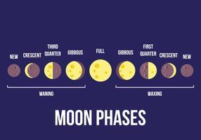 Vecteur phase lunaire