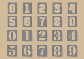 Stencil Número Vectores