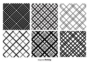 Crosshatch Vector Pattern Set